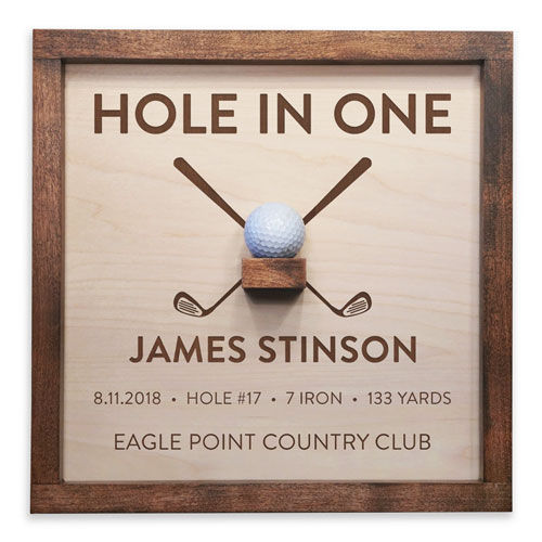 Personalized Hole in One Sign