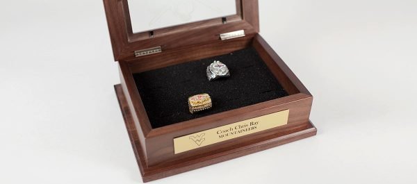 Championship Ring Display Case Walnut
