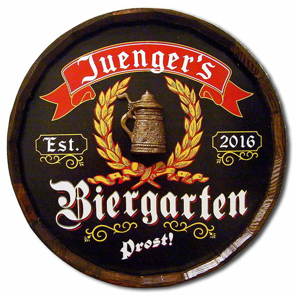 Vintage Custom German Biergarten Sign