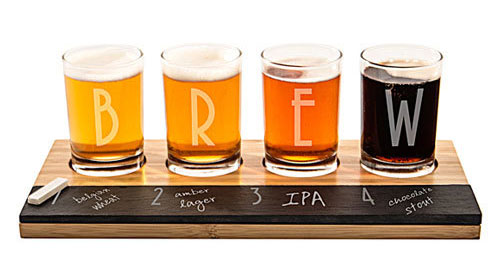 Beer Connoisseur Gift Idea: Flight with Chalkboard