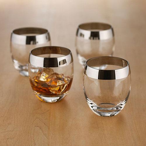 Set of Four Madison Avenue Whiskey Drinking Glasses