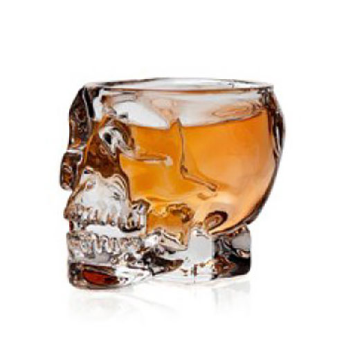 Whiskey Glass in shape of a skull