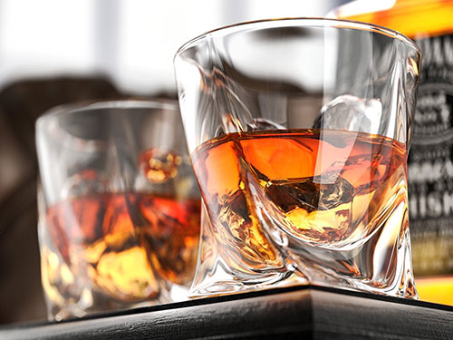 Two Lovely Whiskey Glasses