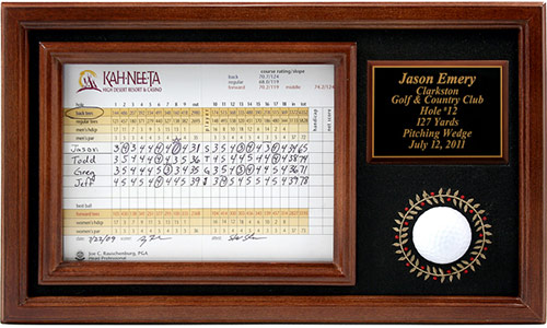 Golf ball collectible display for a single golf ball