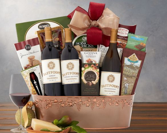Wine Gift Basket for Dentist