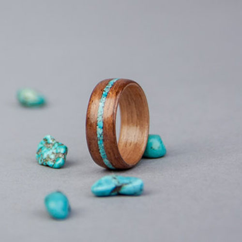 Handmade Turquoise Engagement Ring