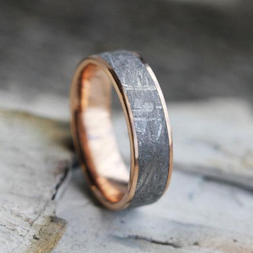 Handmade Engagement Ring Gibeon Meteorite