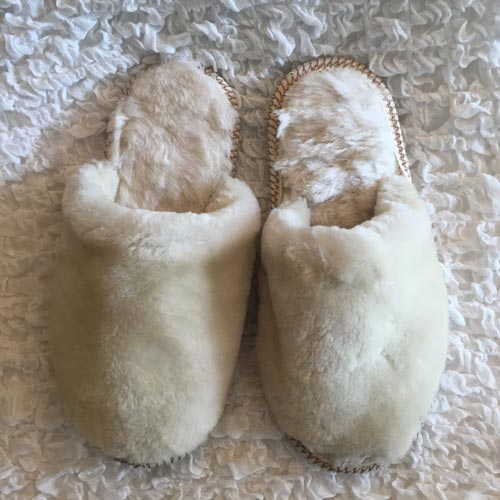 Cozy wool slippers