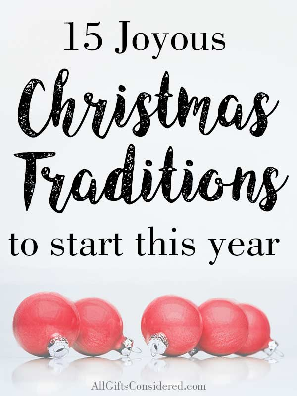 New Christmas Traditions to Do With Your Family