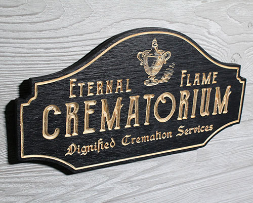 Eternal Flame Crematorium Plaque