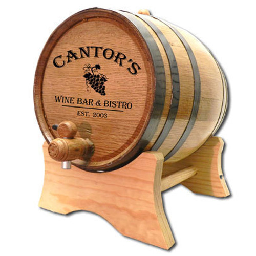 Barrel Gifts: Personalized with Vineyard Grapes & Wine Themes