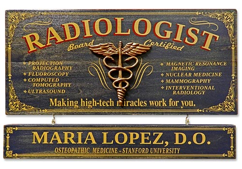 Custom Radiology Plaque