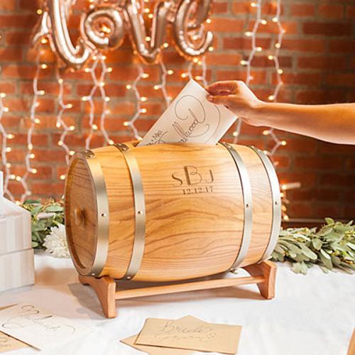 Engraved Barrel for Gift Cards