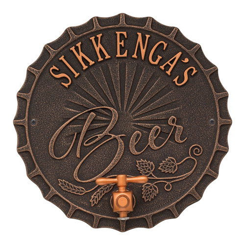 Personalized Brew Pub Plaque