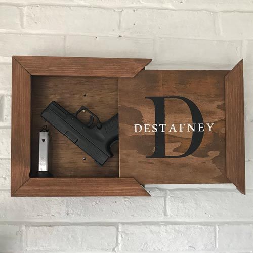 Wall Mounted Hidden Gun Gift Idea