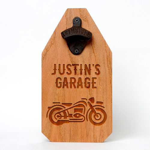 Motorcycle Wall Mounted Bottle Opener