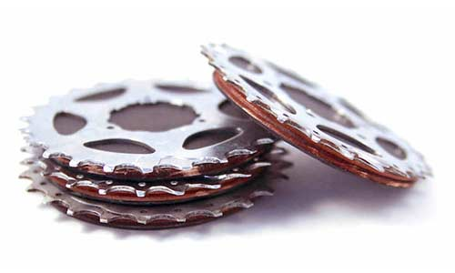 Gift ideas for motorcyclists: Bike Sprocket Coasters