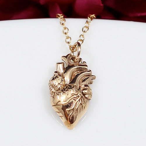 Jewelry with anatomically correct heart, brains, lungs, and more