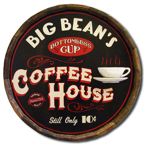 Personalized Coffee House Plaque