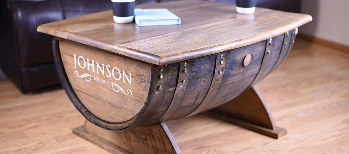 Premium Wine And Whiskey Barrel Coffee Tables End