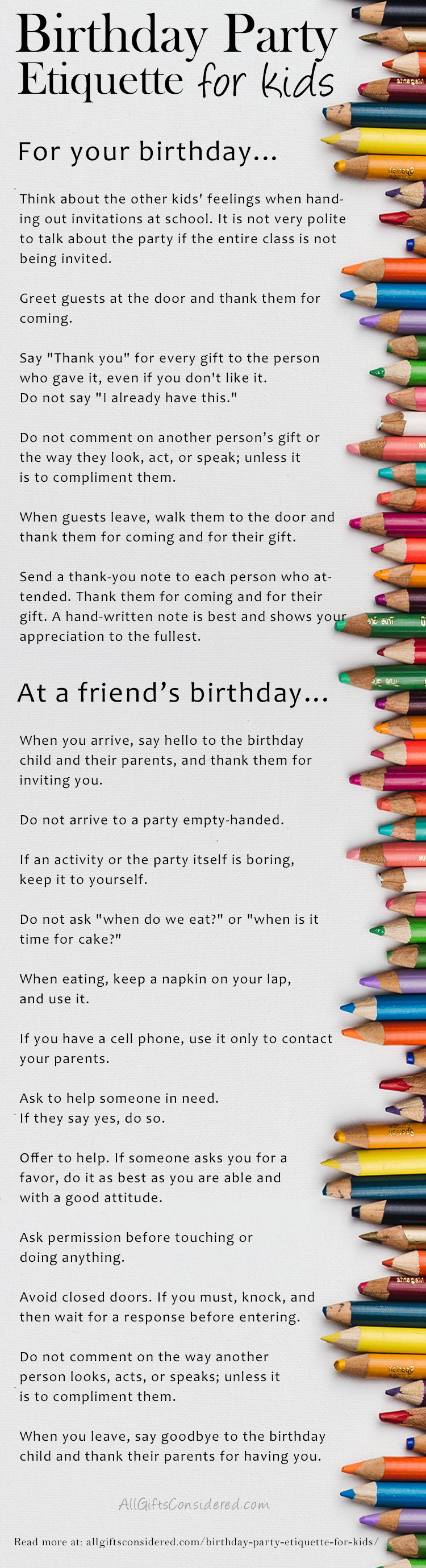 Guide To Birthday Party Etiquette