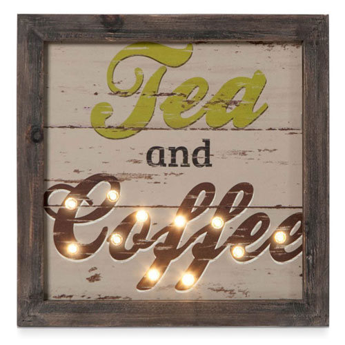 LED Light Sign for Tea & Coffee Drinkers