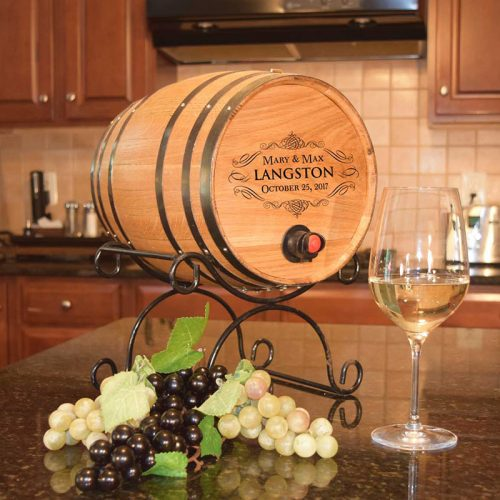Personalized Serving Barrel for Boxed Wine