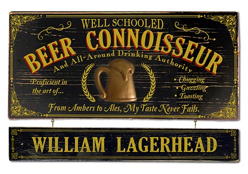 Game Room Decor Ideas - Beer Connoisseur Sign