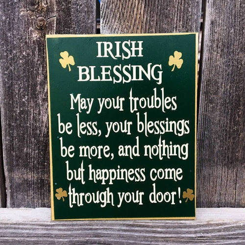 St Patrick's Day Decor Blessing Sign