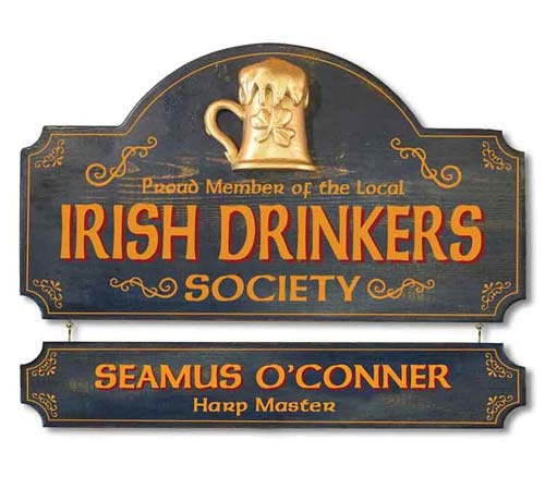 Custom Vintage Irish Pub Sign