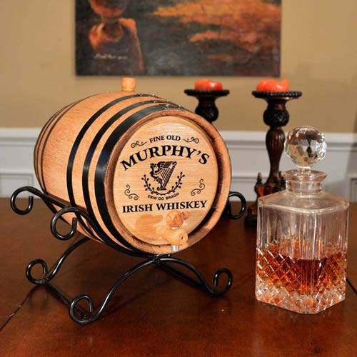 Personalized Oak Aging Barrel - St Patrick's Day Gift Idea