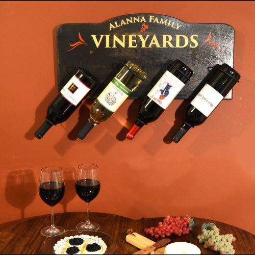 Wooden Wine Bottle Holder - Pharmacist Gift Idea