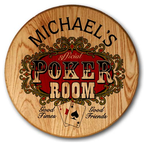 Poker Room Game Room Decor Personalized