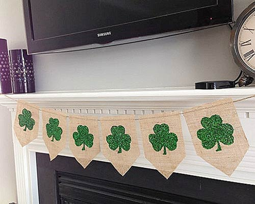 Shamrock Bunting for St Patrick's Day Party Decor