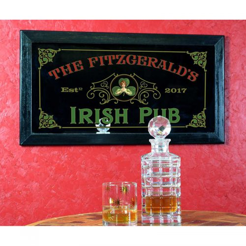 Irish Pub Personalized Mirror for St. Patrick's Day