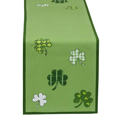 Irish-themed table runner for St. Patrick's Day decor
