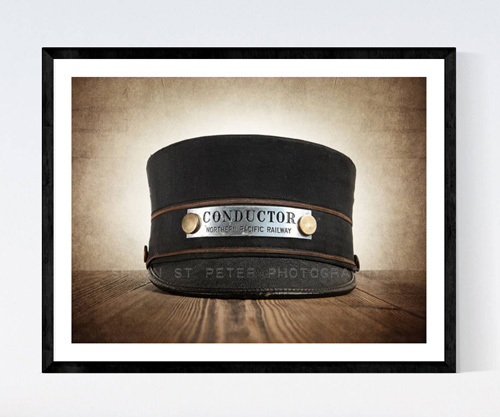Vintage Train Conductor Hat Photo Print