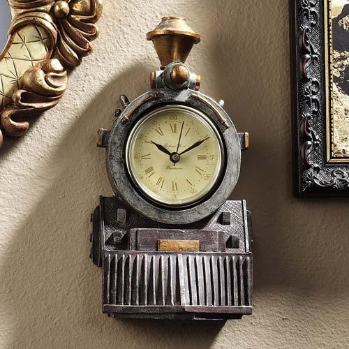 Decorative Train Locomotive Clock