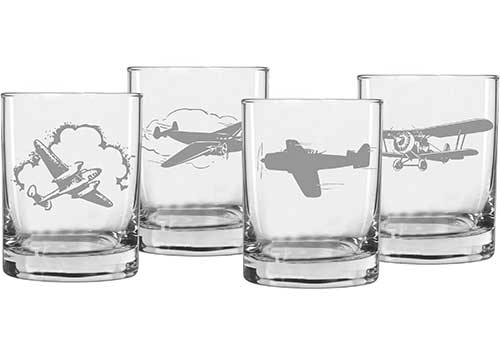 Aviation Gift Ideas: Engraved Whiskey Glasses