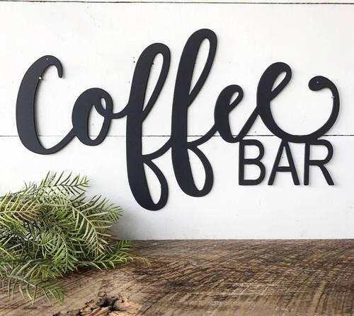 Coffee Bar Decor Metal Coffee Sign