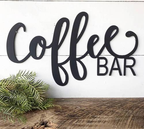 Coffee Bar Decor Metal Coffee Sign