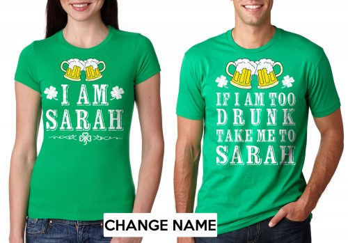 Irish Shirts for Couples on Saint Patrick's Day