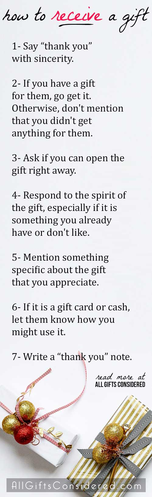 Gift Etiquette for When You Receive a Gift