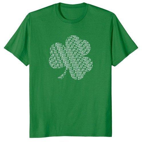 Shamrock St Patrick's Day Shirt with Prayer