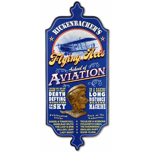 Vintage Wall Sign for Pilots