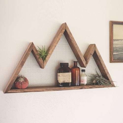 Wooden Office Gifts ~ Handmade rustic mountain wood shelf all gifts considered
