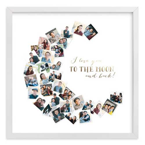 Anniversary Gift Idea: Love you to the moon and back photo collage