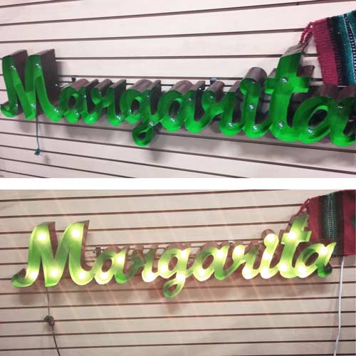 Light Up Wall Decor - Margarita Marquee