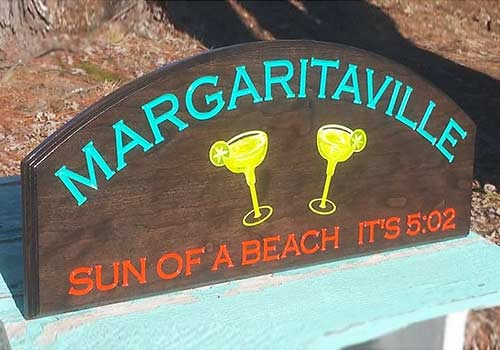 "Margarita Sign ""Sun of a beach it's 5:02"""""