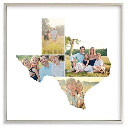 Texas State Photo Frame Anniversary Gift